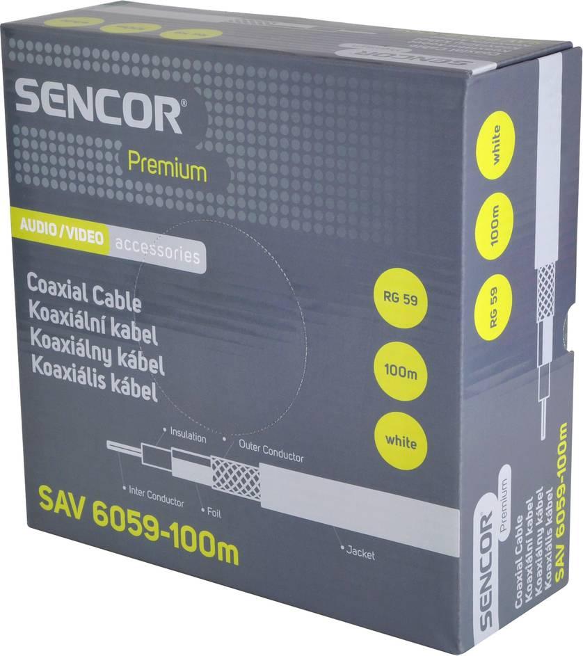 SAV 6059-100m Koax. kabel RG-59 35043254 SENCOR