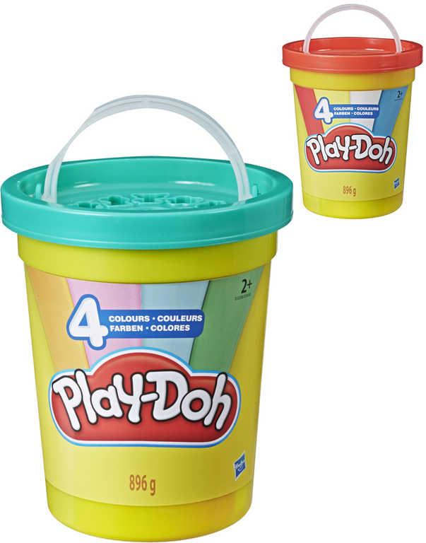 HASBRO PLAY-DOH Super velké balení modelíny 4 barvy v kelímku 2 druhy