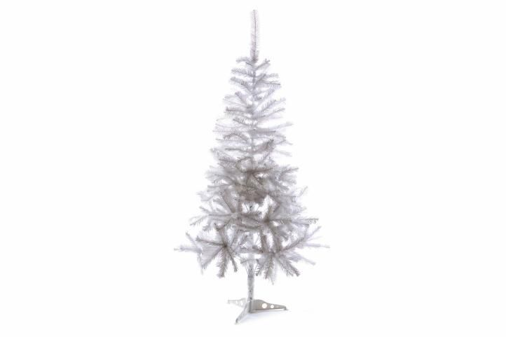 Umělý vánoční strom s třpytivým efektem - 150 cm, bílý