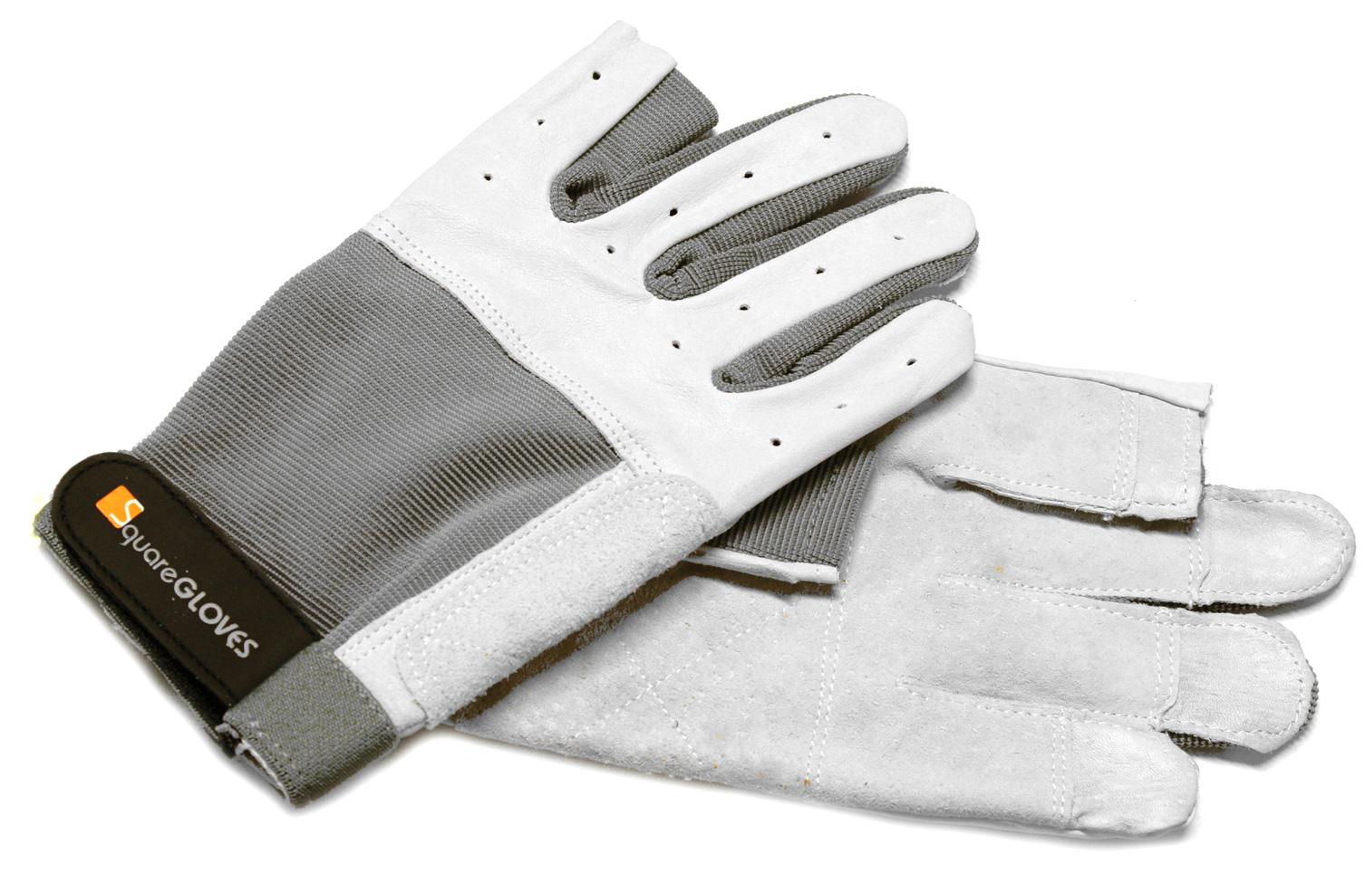 Rukavice Roadie Pro, velikost L, světle šedé