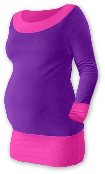 Těhotenska tunika DUO - fialová/růžová