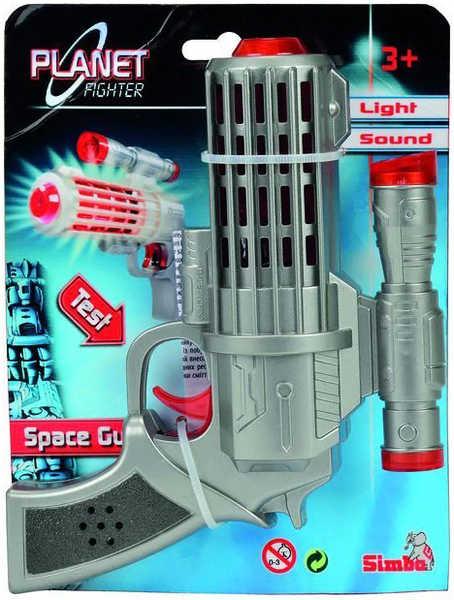 SIMBA Planet Fighter Laserová pistole 16 cm Světlo + Zvuk
