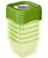 Sada plastových krabiček Hippo 0,5l - 5 ks