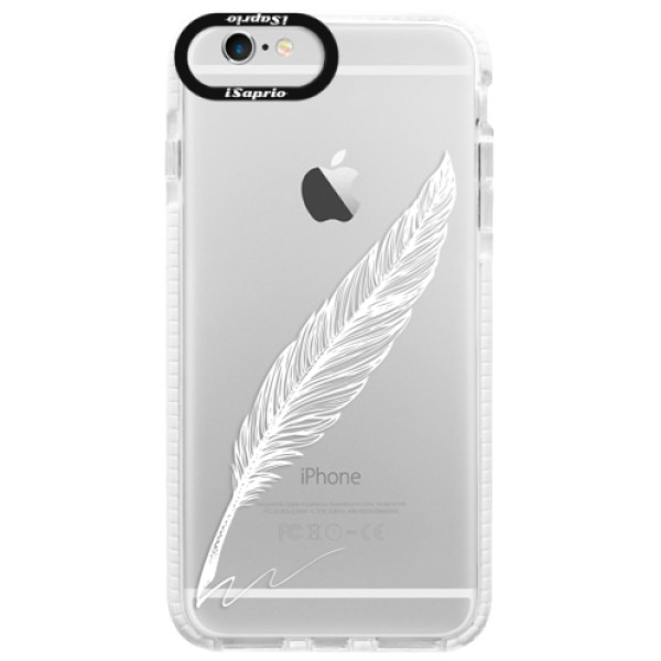 Silikonové pouzdro Bumper iSaprio - Writing By Feather - white - iPhone 6/6S