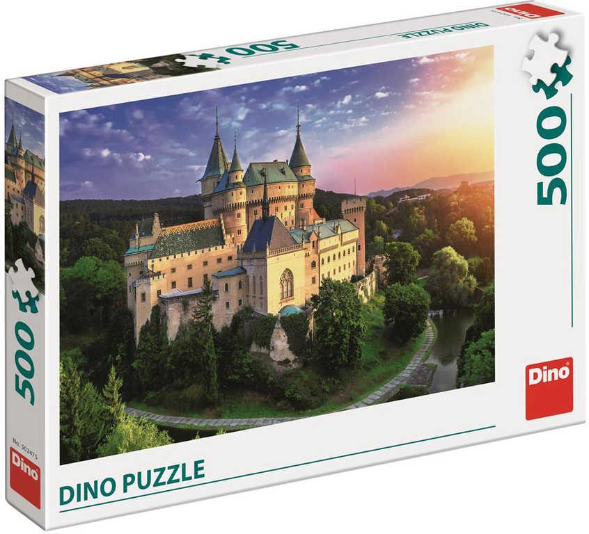 DINO Puzzle Zámek Bojnice foto 500 dílků 47x33cm skládačka v krabici