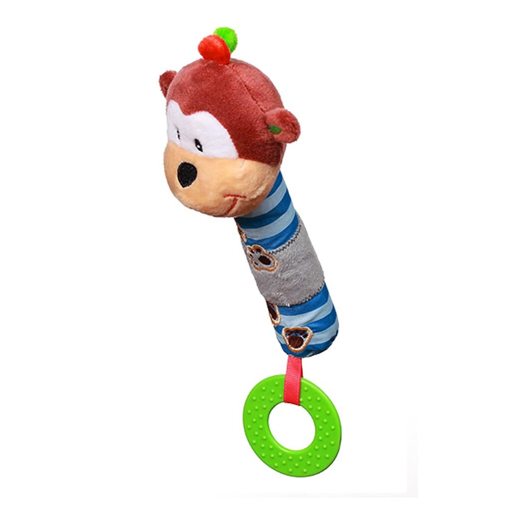 Plyšová pískací hračka s kousátkem Baby Ono opička George - dle obrázku