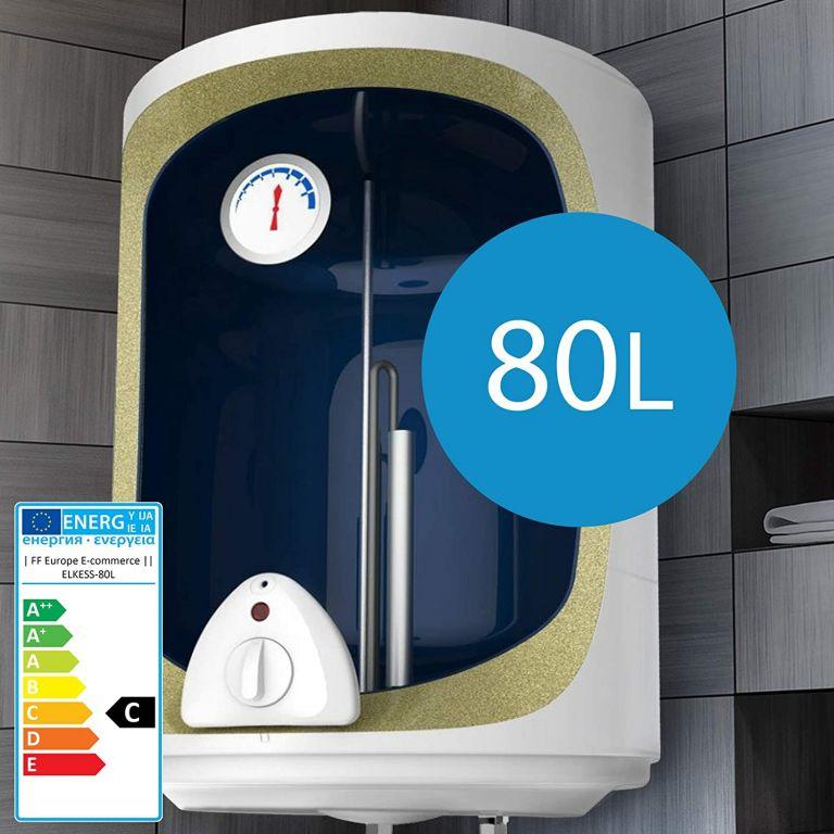 Elektrický zásobník na horkou vodu 80 l, bílý