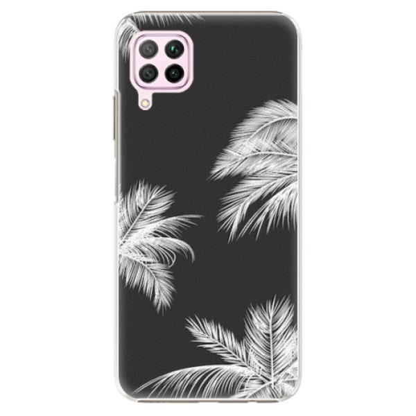 Plastové pouzdro iSaprio - White Palm - Huawei P40 Lite