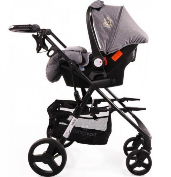 Moni Dětský kočárek 3v1, Noble 2021 - černý