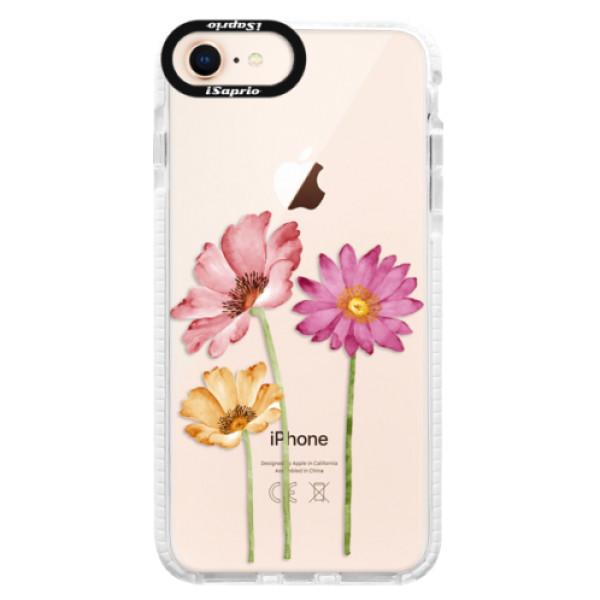 Silikonové pouzdro Bumper iSaprio - Three Flowers - iPhone 8
