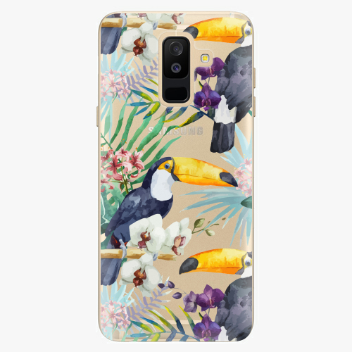 Plastový kryt iSaprio - Tucan Pattern 01 - Samsung Galaxy A6 Plus