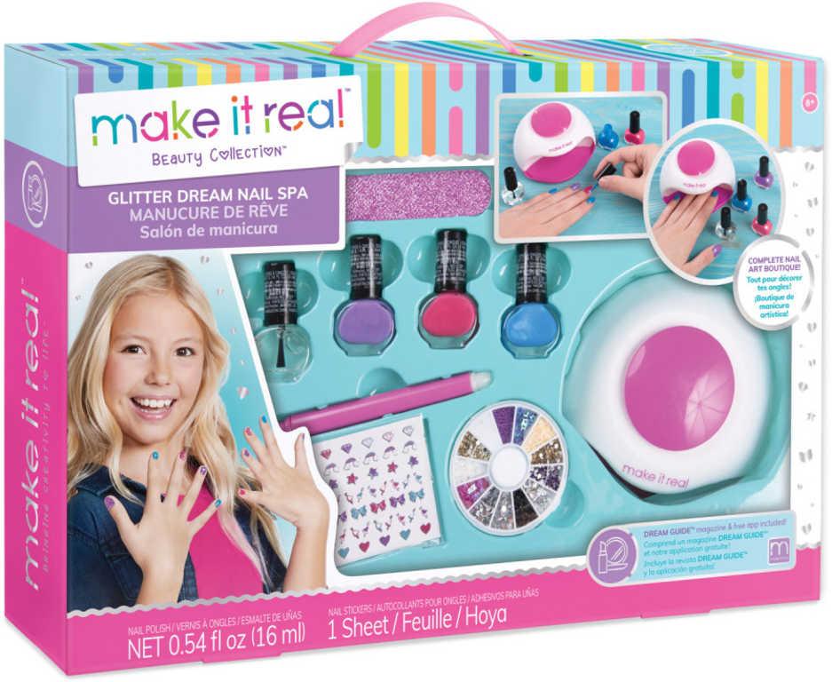 MAKE IT REAL Nehtové studio set sušička na nehty s laky a doplňky
