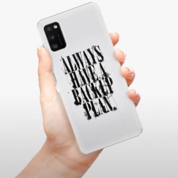 Plastové pouzdro iSaprio - Backup Plan - Samsung Galaxy A41