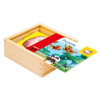 Krtek a Panda, dřevěné puzzle 16 dílků