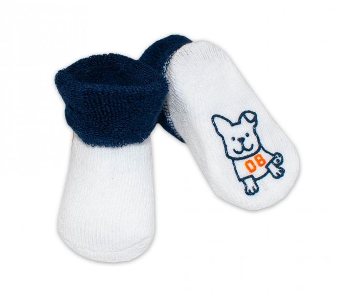 Kojenecké ponožky 0-6m, Risocks různé motivy - tm. modrá - 0/6 měsíců