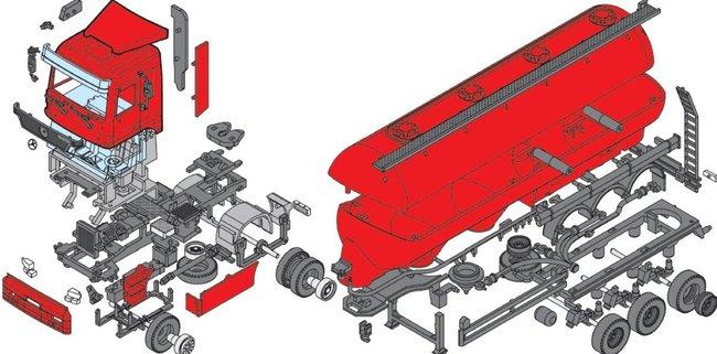 SEVA Monti System 57 Auto Mercedes Actros SILOTRANS MS57 0109-57