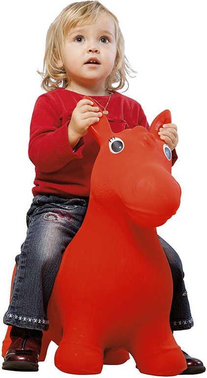 JOHN Hopsadlo nafukovací skákací zvířátko 55x50x25cm 2 barvy koník