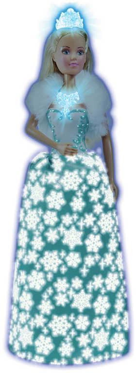 SIMBA Panenka Steffi Magic Ice ledová princezna svítí ve tmě na baterie Světlo