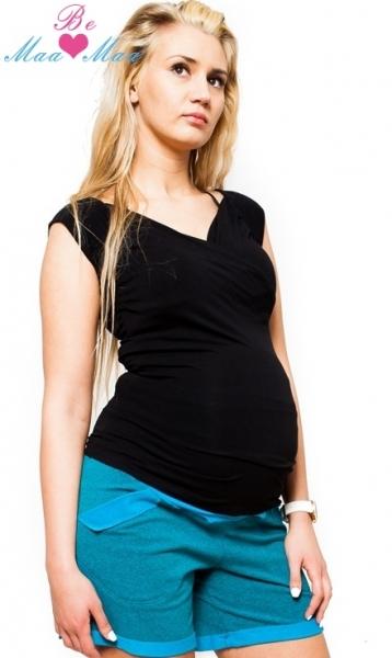 Be MaaMaa Těhotenské kraťasy BRIA - tyrkysově zelenkavý