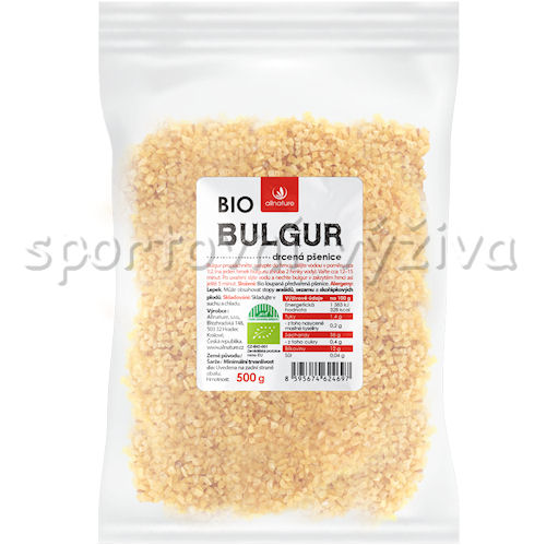 Allnature BIO Bulgur Drcená Pšenice 500g