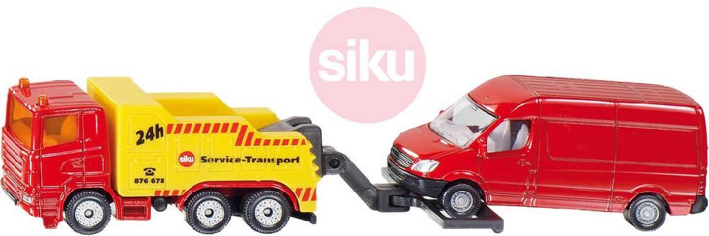 SIKU Super odtahové auto set s dodávkou model 1:87 kov