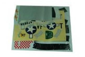 B5061, sticker, Mustang P51D, art-tech, polepy