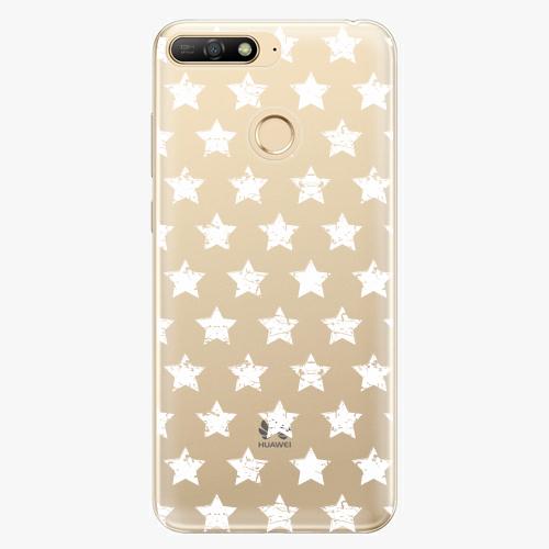 Silikonové pouzdro iSaprio - Stars Pattern - white - Huawei Y6 Prime 2018