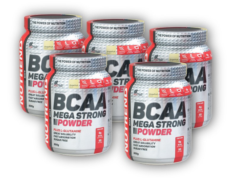 4x BCAA Mega Strong Powder 500g + 1 x - ZDARMA-cherry