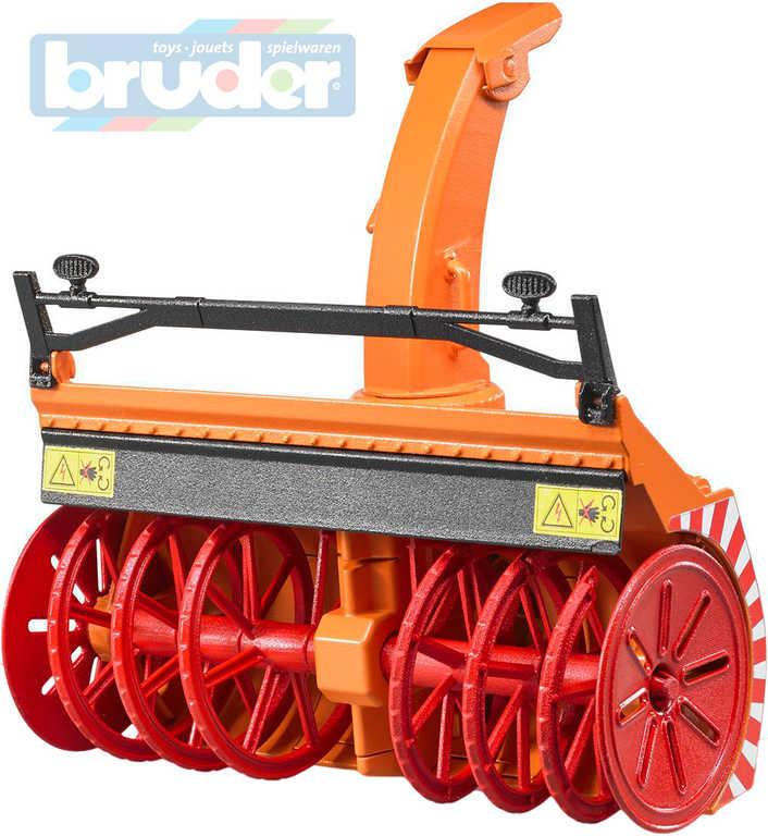 BRUDER 02349 (2349) Fréza sněžná doplněk na traktor funkční model 1:16 auto