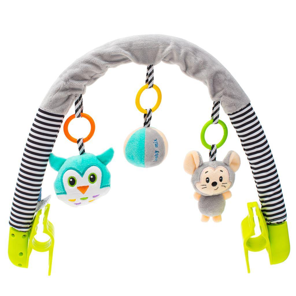 Hračka na kočárek Baby Mix myška, sova - dle obrázku