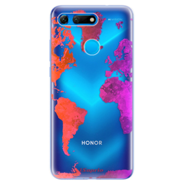 Odolné silikonové pouzdro iSaprio - Warm Map - Huawei Honor View 20