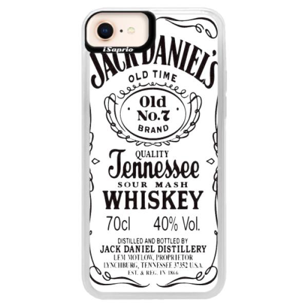 Neonové pouzdro Pink iSaprio - Jack White - iPhone 8