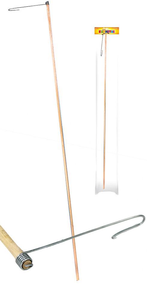 KARNEVAL Hůlka dřevěná (držák) na lampion 60cm
