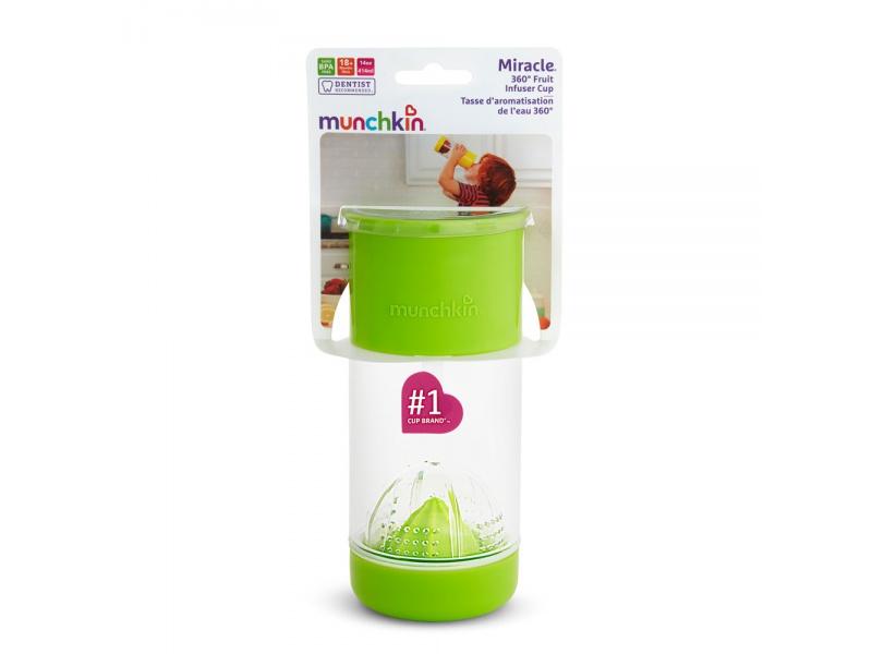 Munchkin - Netekoucí hrnek s infuzérem 414 ml - zelený