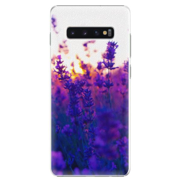 Plastové pouzdro iSaprio - Lavender Field - Samsung Galaxy S10+