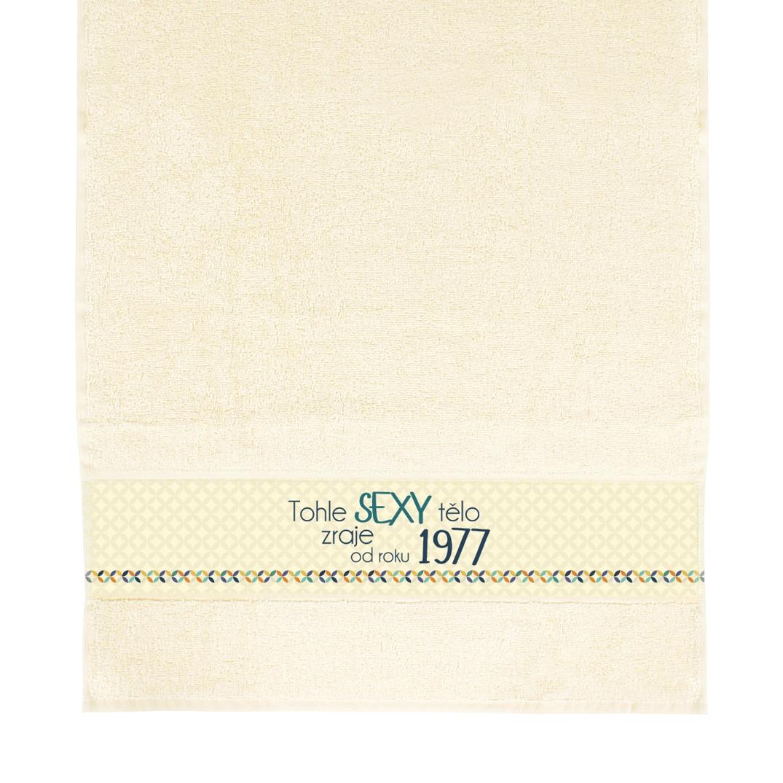 ALBI - Béžový ručník - 1977