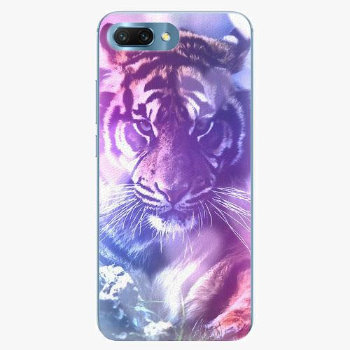Plastový kryt iSaprio - Purple Tiger - Huawei Honor 10