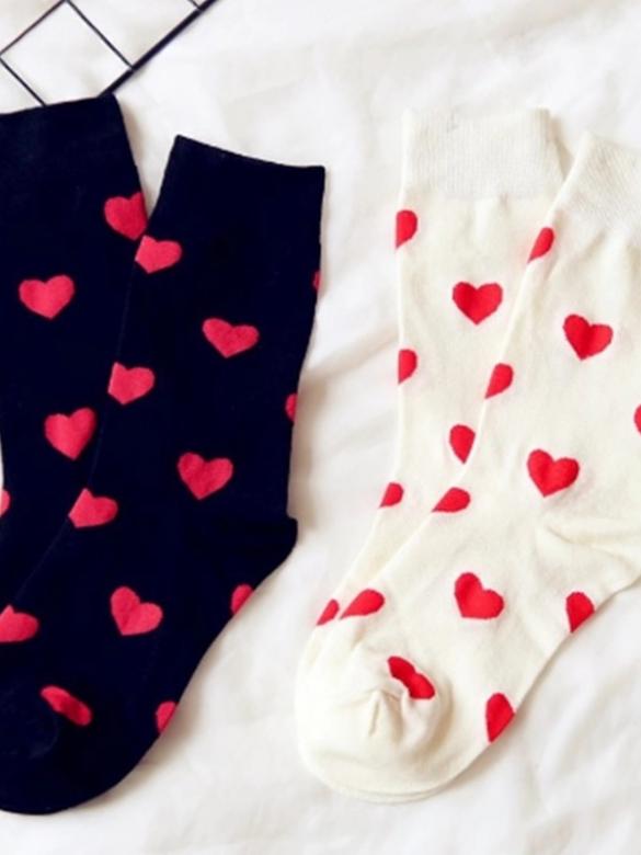 Zamilované ponožky - bílé