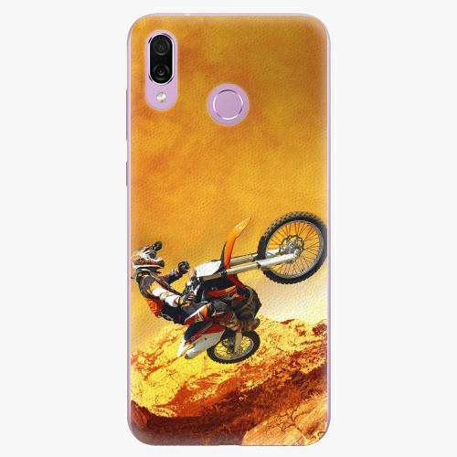 Silikonové pouzdro iSaprio - Motocross - Huawei Honor Play