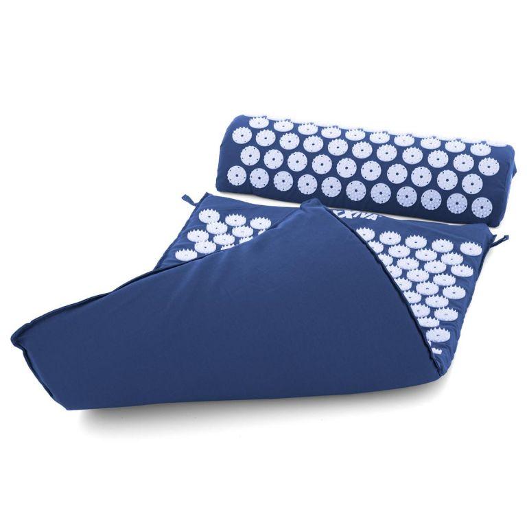 MAXXIVA Akupresurní podložka s polštářem, 75x42 cm, modrá