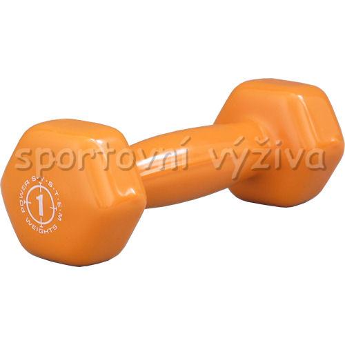 Jednoručka Vinyl Dumbell 1kg orange