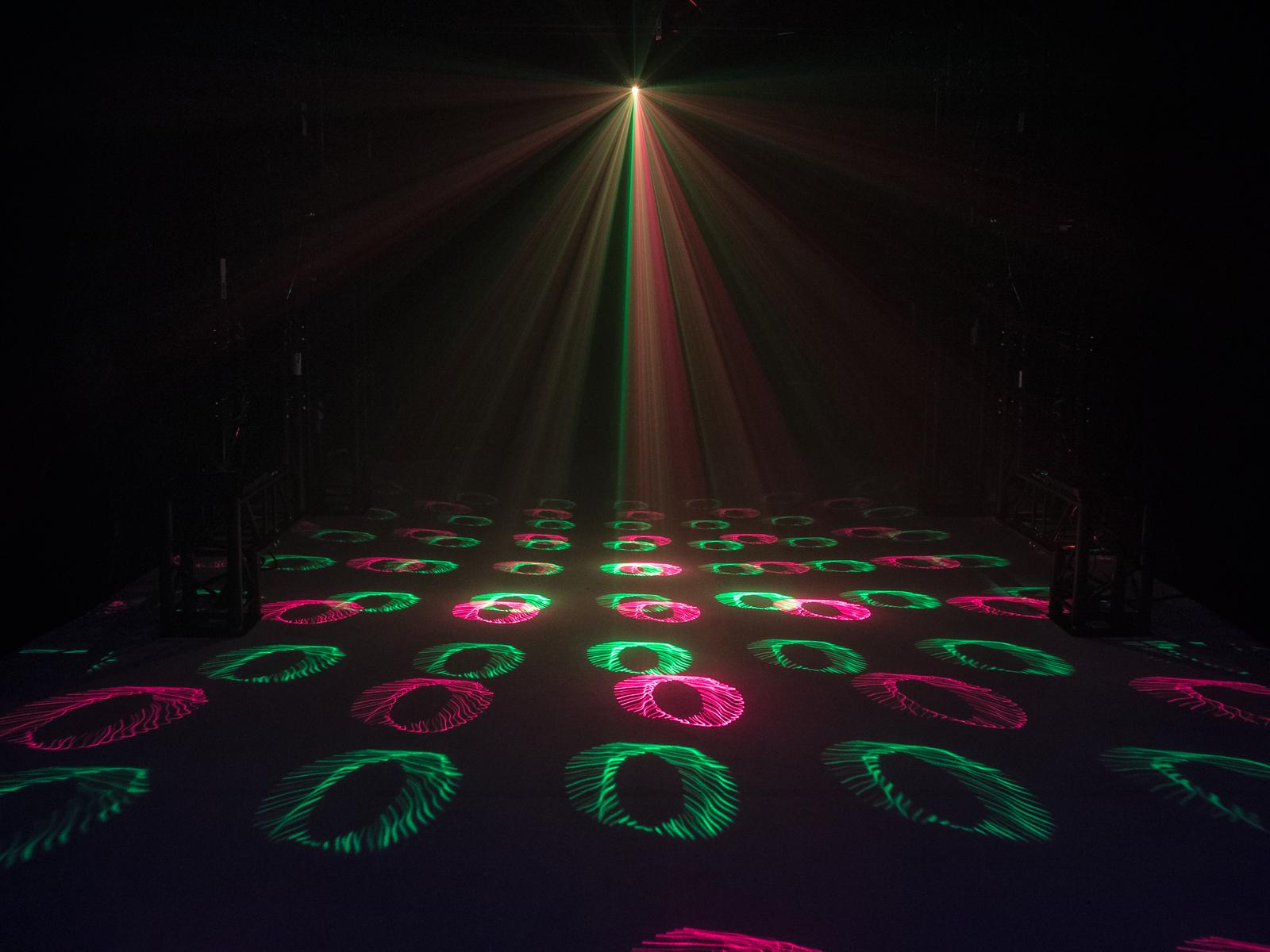 Eurolite LED Triple FX Hybrid, RG Laser, Flower a Strobo, DMX