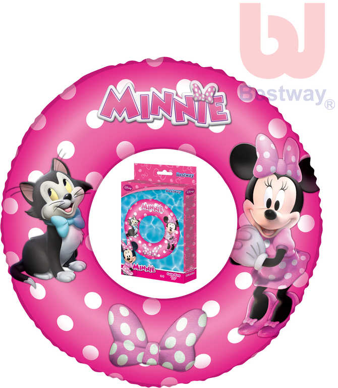 BESTWAY Kruh dětský 56cm nafukovací plavací kolo Minnie do vody