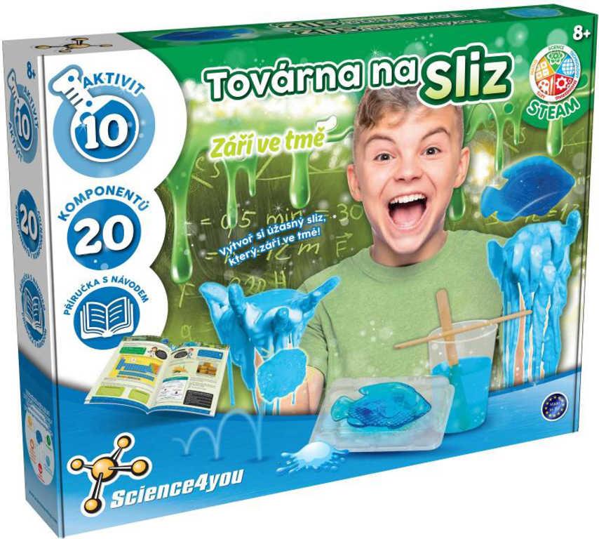 Science 4 You Továrna na sliz svítí ve tmě kreativní experimentální set v krabici