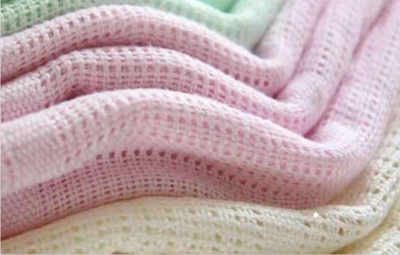 Dětská háčkovaná bavlněná deka Lorelli 75x100 CM BLUE