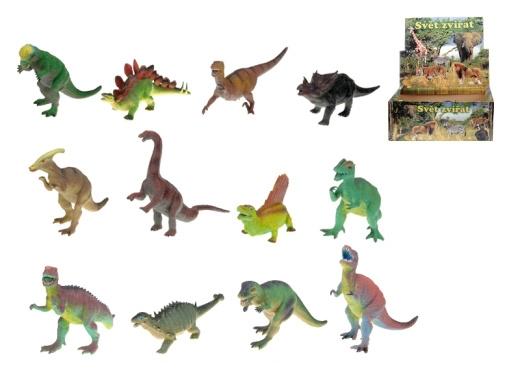 Dinosaurus 25cm 12 druhů zvířátko pravěkké plast