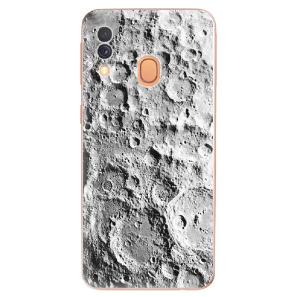 Odolné silikonové pouzdro iSaprio - Moon Surface - Samsung Galaxy A40