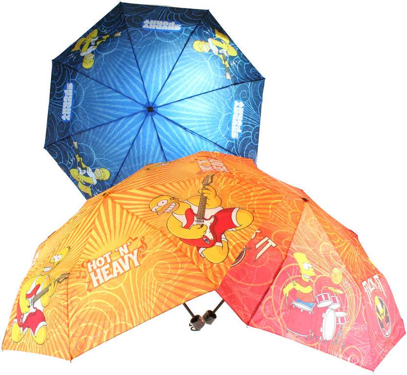 Deštník dětský Simpsonovi 100 cm mechanický - 3 druhy