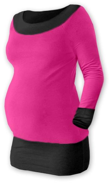 Těhotenska tunika DUO - růžová/černá