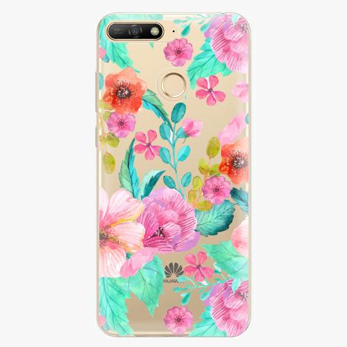 Silikonové pouzdro iSaprio - Flower Pattern 01 - Huawei Y6 Prime 2018